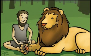 the slave and the loin